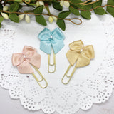 Pastel Petite Planner Bow Clips