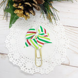 Christmas Stripes Planner Clips or Charms
