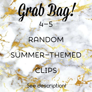 Grab Bag Summer Themed Planner Clips