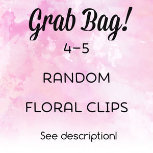 Grab Bag Floral Themed Planner Clips