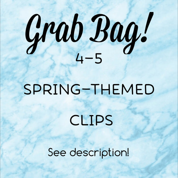 Grab Bag Spring Themed Planner Clips