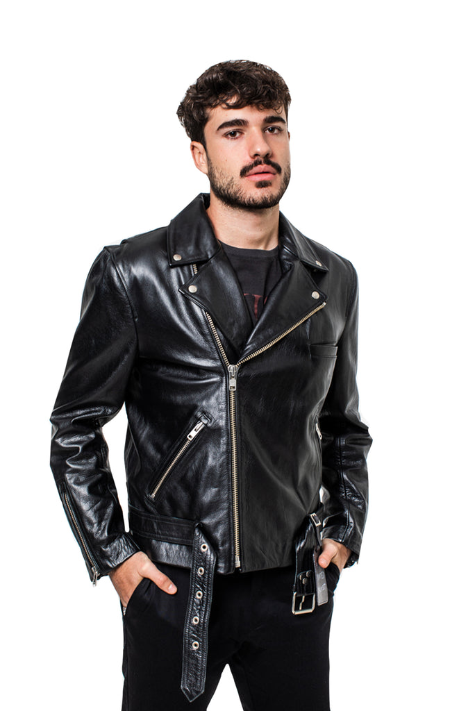 KISSNKILL 09-Plain leather jacket unisex