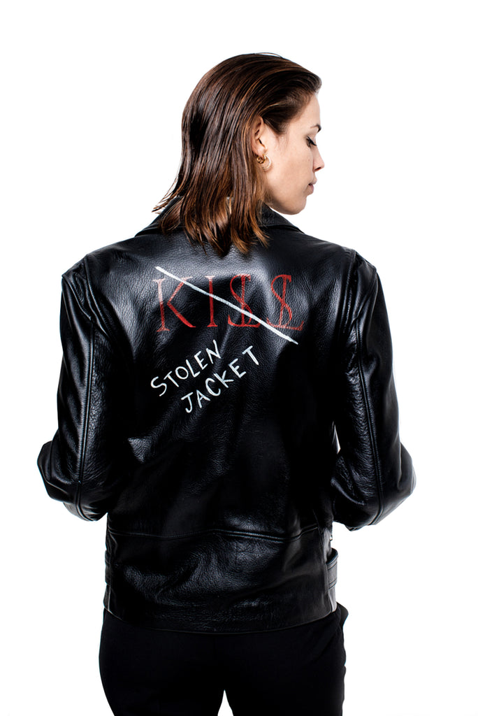 "KISSNKILL 08-Leather jacket ""Stolen Jacket"" unisex"