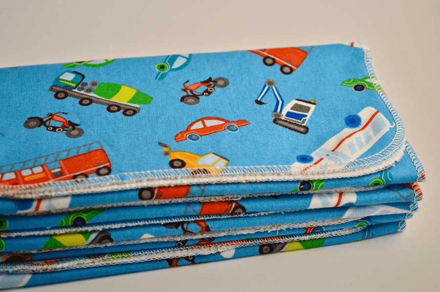 Trucks & Cars Reusable Bamboo Baby Wipes