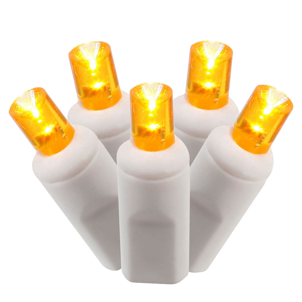 orange white wire 5mm Christmas lights