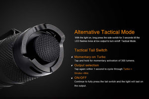 Fenix LD22 tactical mode switching