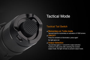 Fenix PD35 tactical switch
