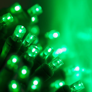 35 count 5mm LED Christmas lights green