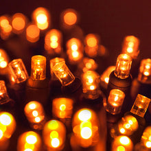 Load image into Gallery viewer, 35 count 5mm orange LED Christmas lights
