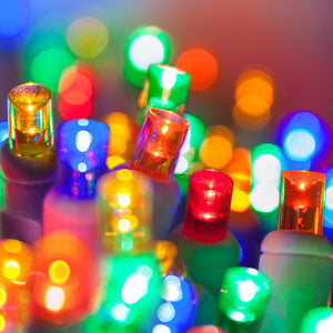 multi color LED Christmas lights 70 lights