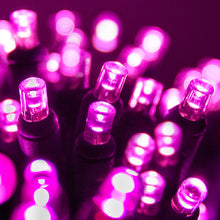 Load image into Gallery viewer, Pink 5mm LED Christmas lights 50L
