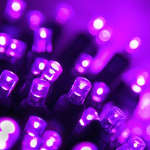 Load image into Gallery viewer, 70 count purple LED Christmas lights