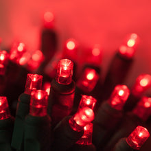 Load image into Gallery viewer, 5mm 100 count Red LED Christmas lights