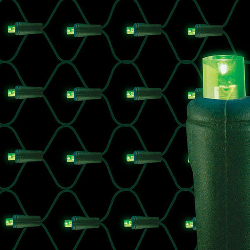 Green LED net lights