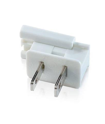 Male zip plug white