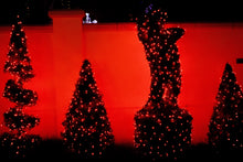 Load image into Gallery viewer, Red LED Christmas lights in bushes