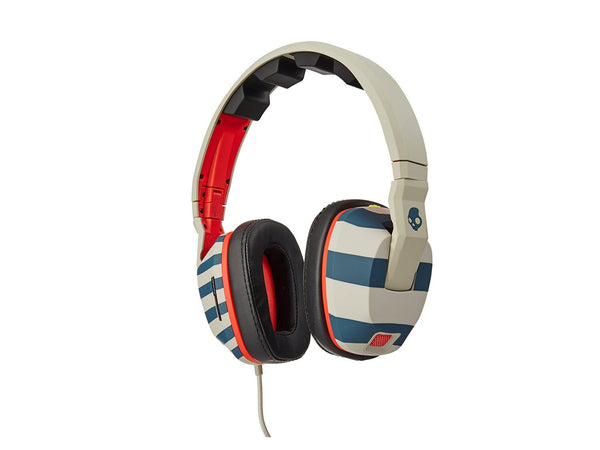 Skullcandy Crusher Headphones with Mic - Stripes/Tan/Navy