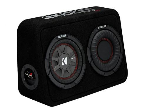 "Kicker TCWRT674 CompRT 6.75"" Subwoofer in Thin Profile Enclosure 4ohm 150W"