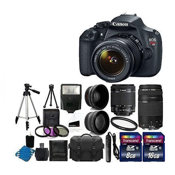 Canon EOS Rebel T5 Digital SLR Accessory Bundle