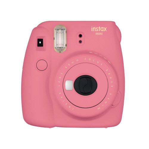 Fujifilm Instax Mini 9 Instant Camera with Instax Groovy Camera Case (Flamingo Pink) & Instax Mini Instant Film Value Pack
