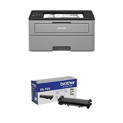 Brother Compact Monochrome Laser Printer, HLL2350DW with High Yield Black Toner