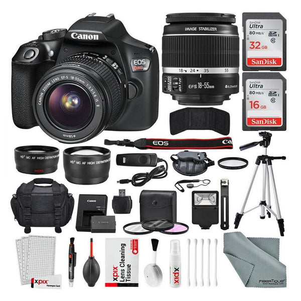 Canon EOS Rebel T6 DSLR Camera Bundle