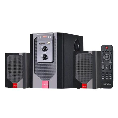 beFree Sound BFS-40 2.1 Channel Surround Sound Bluetooth Speaker System - Red