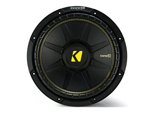 Kicker 12 Inch CompC 1200 Watt 4 Ohm Single Voice Coil SVC Subwoofer | 44CWCS124