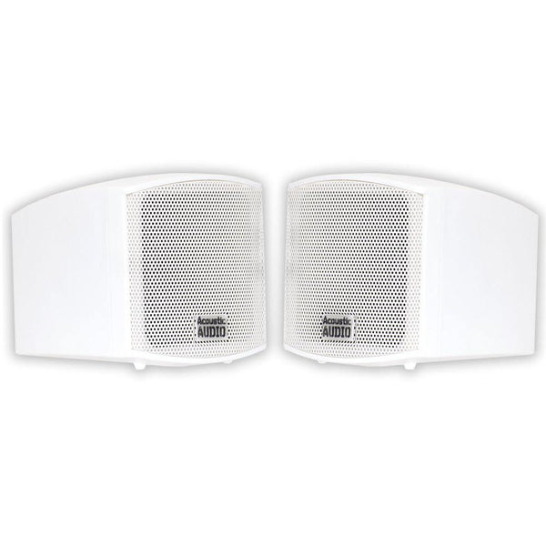 Acoustic Audio AA321W Surround Speakers, White, Set of 2