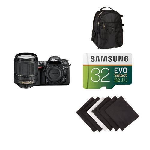 Nikon D7200 DX-format DSLR w/ 18-140mm VR Lens (Black) Accessory Bundle