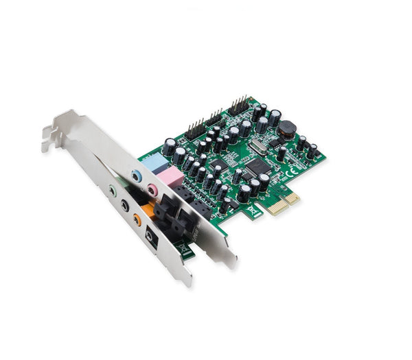 Syba SD-PEX63081 7.1 Surround Sound PCIe Sound Card, S/PDIF In & Out CM8828 Chipset