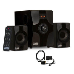 Acoustic Audio AA2131 Bluetooth Home 2.1 Speaker System Multimedia Digital Optical Input