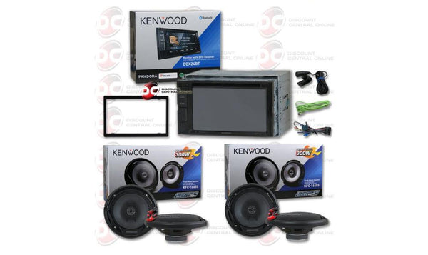 "Kenwood Package DDX24BT 2-DIN 6.2"" In-dash Car DVD CD receiver Speakers Bundle"