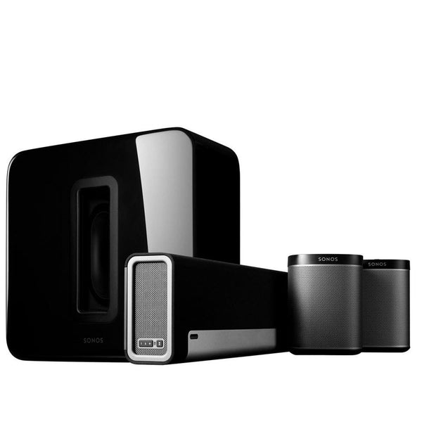 Sonos 5.1 Home Theater System PLAYBAR, SUB, PLAY:1 Wireless Rears Combination