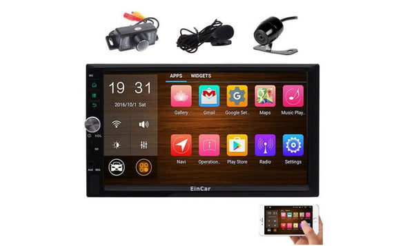 Front & Rear Camera included! Android 6.0 Double Din Car Stereo with 7''