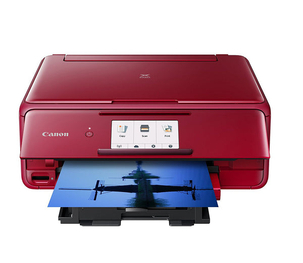 Canon 2230C022 Wireless All-In-One Printer with Scanner and Copier Deluxe Pack - Red