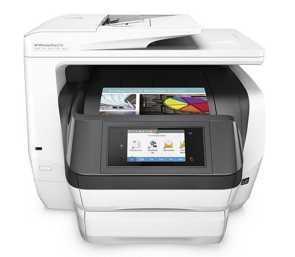 HP OfficeJet Pro 8740 Wireless All-in-One Photo Printer with Mobile Printing with XL Ink Bundle