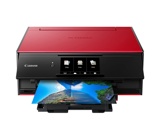 Canon TS9120 Wireless All-In-One Printer with Scanner and Copier Deluxe Pack- Red