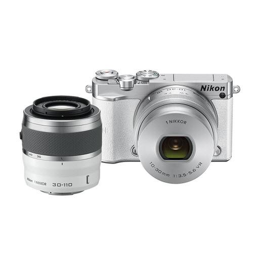 Nikon 1 J5 Mirrorless Digital Camera w/ 10-30mm PD-ZOOM Lens & 30-110mm Lens (White)