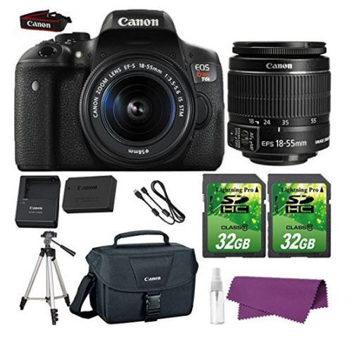 Canon EOS Rebel T6i DSLR Camera Bundle