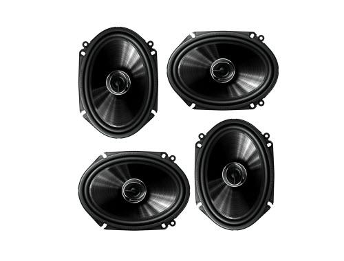 "Pioneer TS-G6845R 2-Way 6"" x 8"" or 5"" x 7"" 500W Car Speaker (2 Pairs) 6x8 5x7"