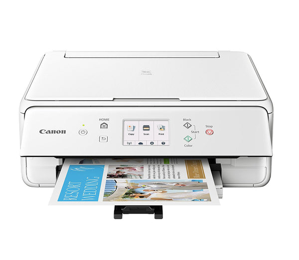 Canon 2229C022 Wireless All-In-One Printer with Scanner and Copier Ink Bundle - White