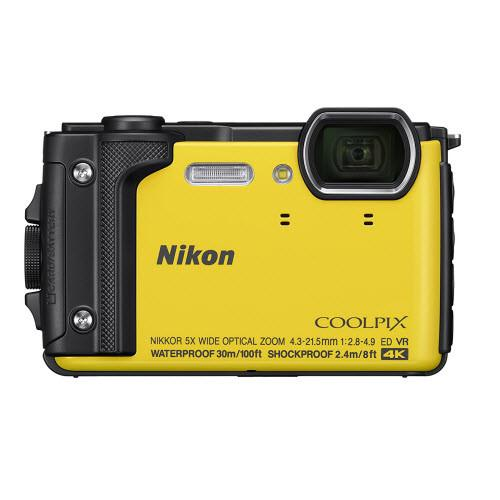 "Nikon W300 Waterproof Underwater Digital Camera with TFT LCD, 3"", Yellow"