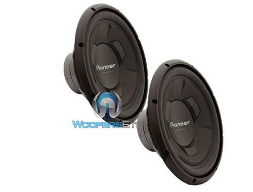 "Pair of Pioneer TS-W126M 12"" 300 Watts RMS Single 4-Ohm Subwoofers"