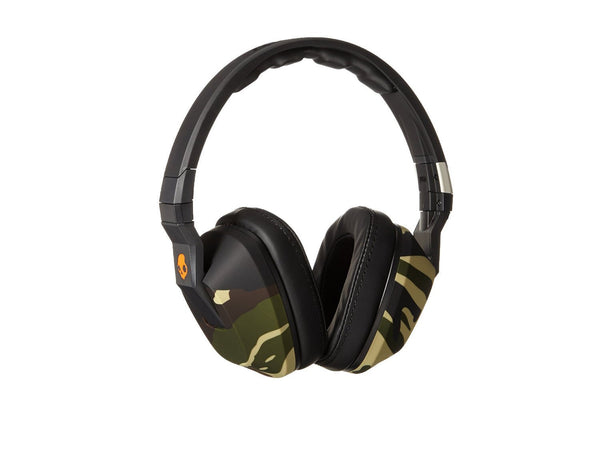 Skullcandy Crusher Headphones with Built-in Amplifier and Mic, Camo Slate and Orange