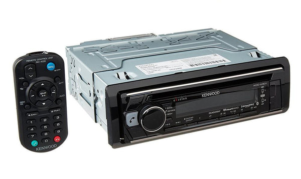 "Kenwood KDC-X301 4.3"" CD Receiver with Remote App & Built-in Bluetooth"