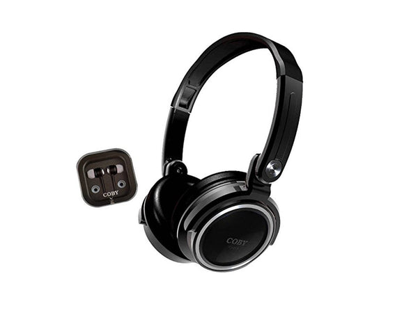 Coby CVH-800-BLK Headphones and Earbuds - Black