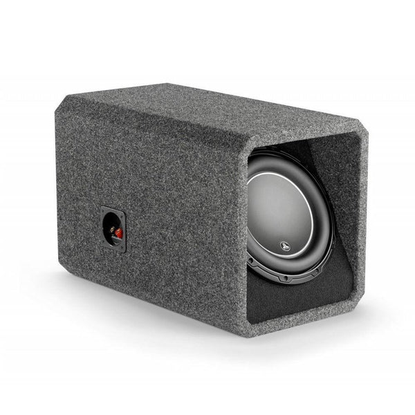 "JL Audio HO110-W6v3 Ported H.O. Wedge™ enclosure with one 10"" W6v3 subwoofer"