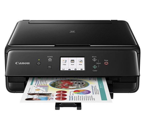 Canon Compact TS6020 Wireless Home Inkjet All-in-One Printer Ink Bundle - Black