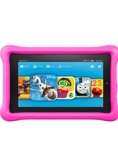 "Amazon - Fire Kids Edition - 7"" Tablet - 16GB - Pink"